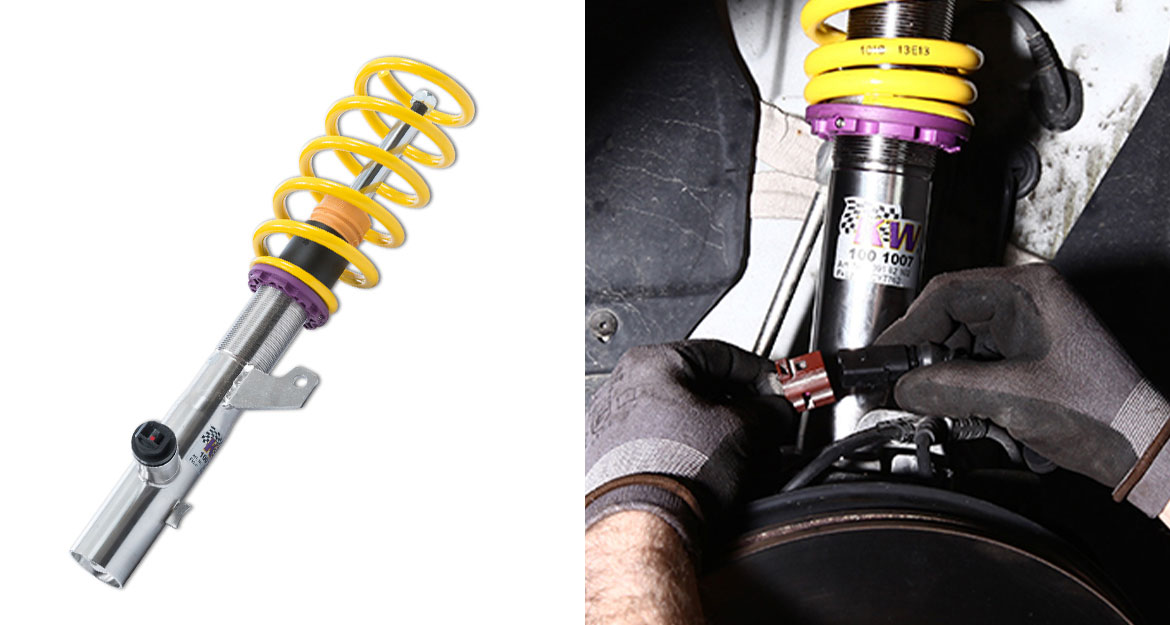 The KW shock absorbers and KW dampers are connected via the plugs.