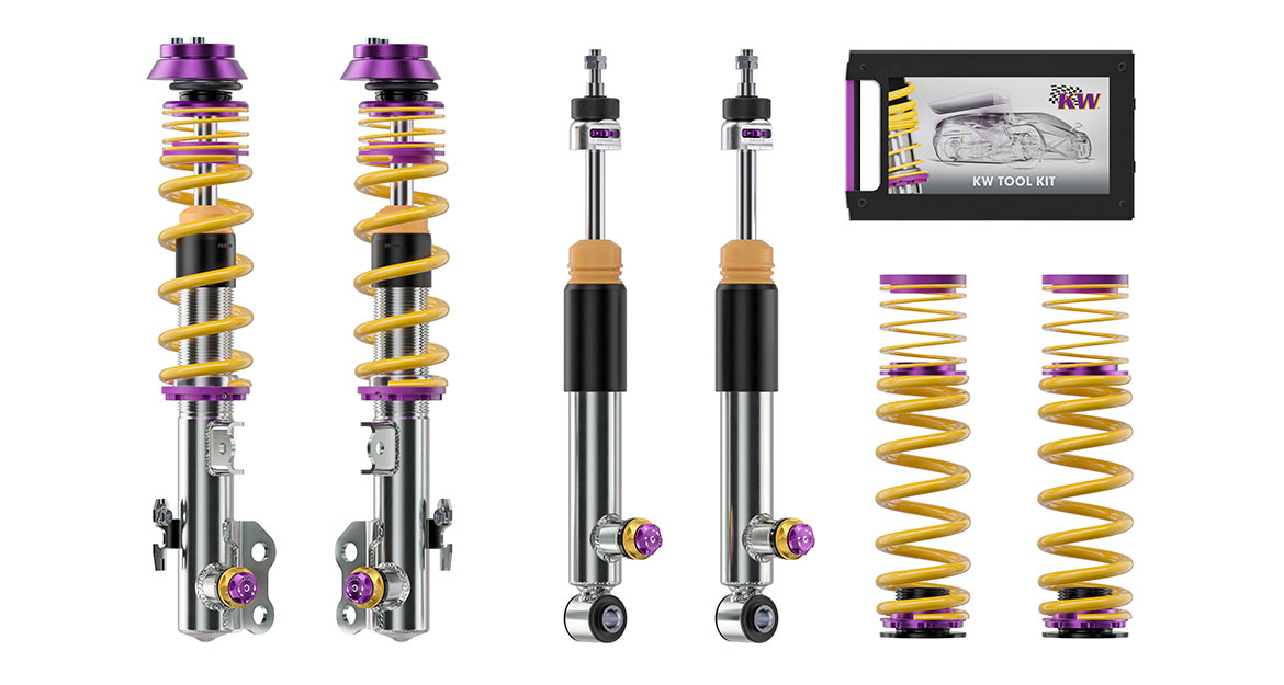 KW Clubsport suspensions also dispose of damper and adjustment technology from the world of motorsports.