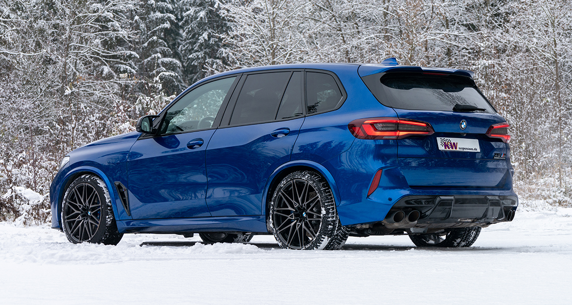 The relatively heavy BMW X5M and BMW X6M SUV benefit from a more noticeable support of the body thanks to the KW suspension.