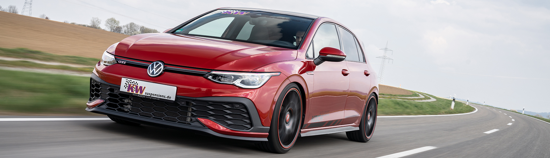 Maximum Stance and increased driving dynamics for the latest VW Golf GTI.